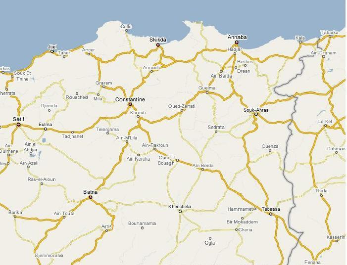 Maps Batna region