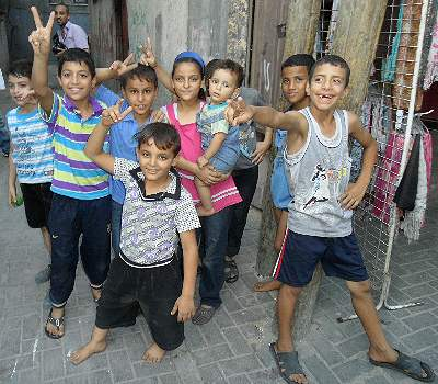 Palestinian kids under duress